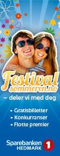 Festivalsommeren hos Sparebanken Hedmark
